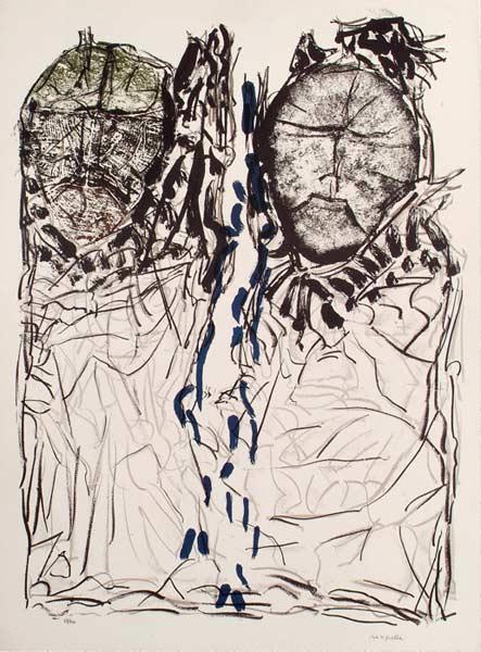 _ARCH_ Affiche avant la lettre no 142, 1974 by Jean Paul Riopelle, R.C.A. - Galerie Lamoureux Ritzenhoff