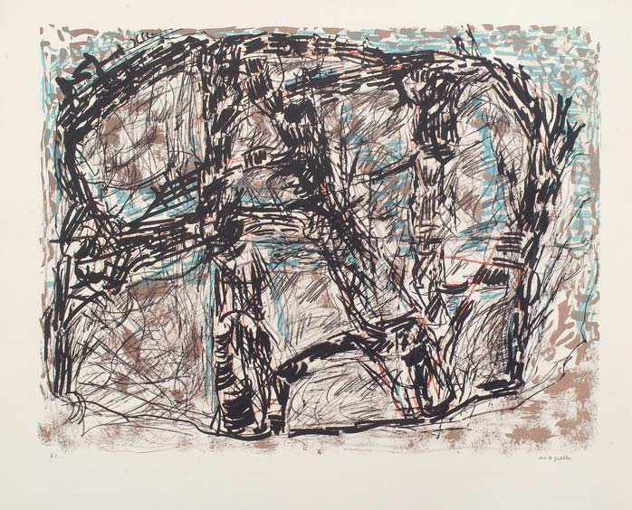 _ARCH_ Feutr�, 1976 by Jean Paul Riopelle, R.C.A. - Galerie Lamoureux Ritzenhoff