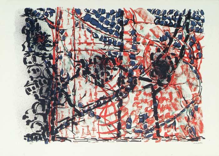 _ARCH_ Treille, 1977 by Jean Paul Riopelle, R.C.A. - Galerie Lamoureux Ritzenhoff