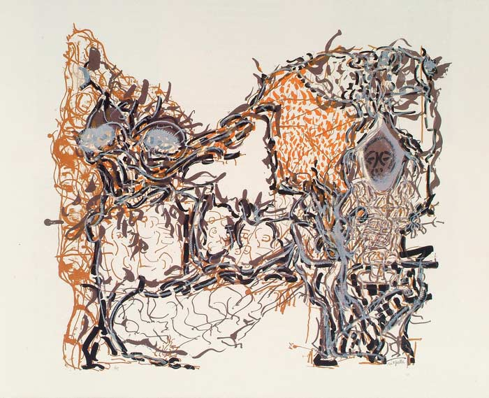 _ARCH_ Affiche avant la lettre no 185, 1980 by Jean Paul Riopelle, R.C.A. - Galerie Lamoureux Ritzenhoff