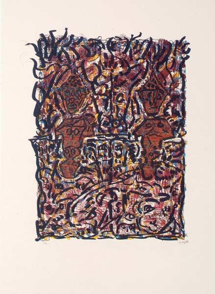 _ARCH_ Deux Totems, 1980 by Jean Paul Riopelle, R.C.A. - Galerie Lamoureux Ritzenhoff