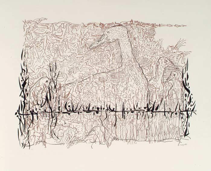 _ARCH_ Sur l'étang, 1981 by Jean Paul Riopelle, R.C.A. - Galerie Lamoureux Ritzenhoff