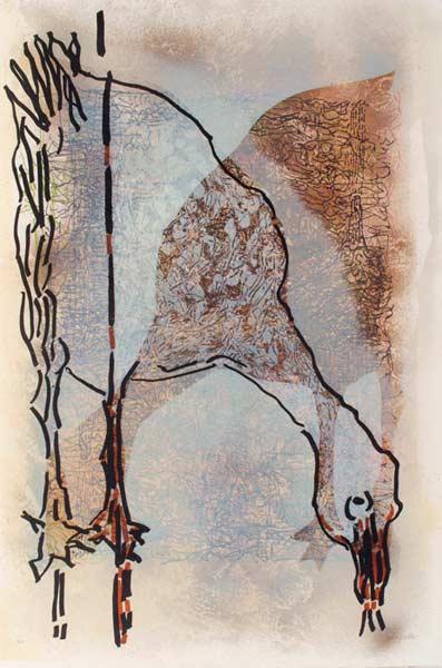 _ARCH_ Affiche avant la lettre no 219, 1983 by Jean Paul Riopelle, R.C.A. - Galerie Lamoureux Ritzenhoff