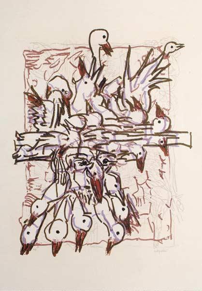 _ARCH_ Cap Tourmente (G), 1983 by Jean Paul Riopelle, R.C.A. - Galerie Lamoureux Ritzenhoff