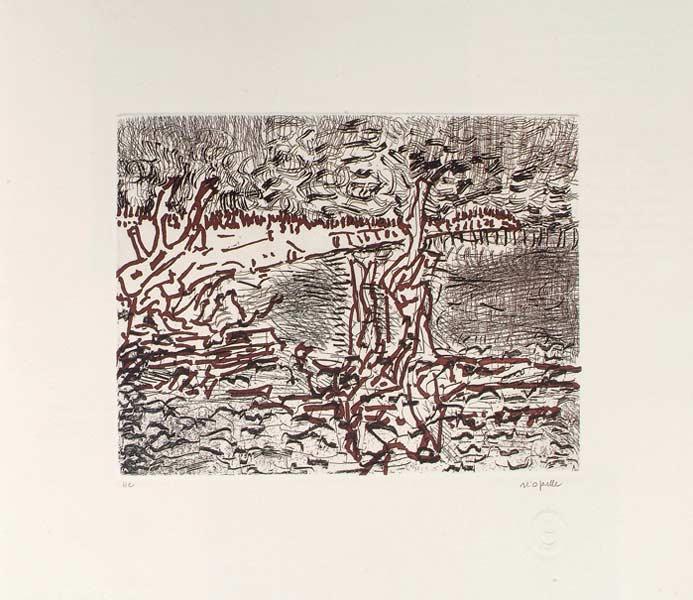 _ARCH_ Le Lac, 1985 by Jean Paul Riopelle, R.C.A. - Galerie Lamoureux Ritzenhoff