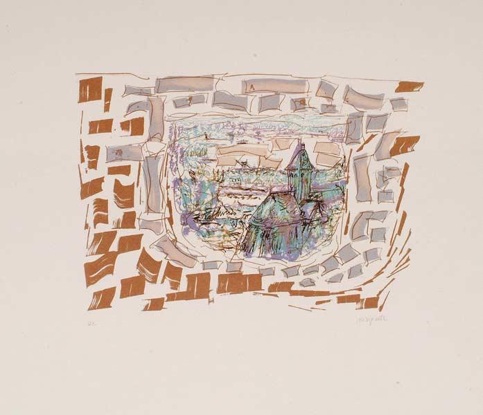 _ARCH_ L'Abside de Vétheuil, 1985 by Jean Paul Riopelle, R.C.A. - Galerie Lamoureux Ritzenhoff