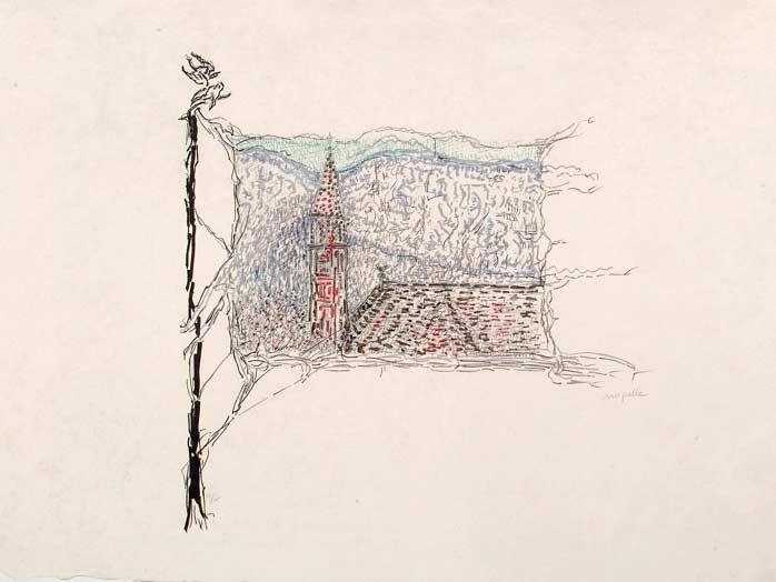 _ARCH_ Le Clocher, 1985-1989 by Jean Paul Riopelle, R.C.A. - Galerie Lamoureux Ritzenhoff