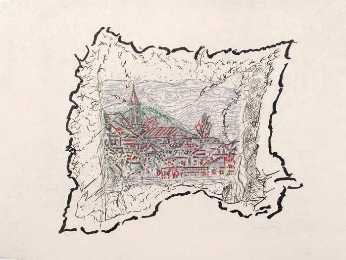 _ARCH_ Sur les Toits de Cald�s, 1985-1989 by Jean Paul Riopelle, R.C.A. - Galerie Lamoureux Ritzenhoff