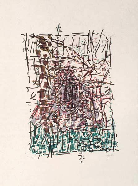 _ARCH_ Clocher cach�, 1985-1989 by Jean Paul Riopelle, R.C.A. - Galerie Lamoureux Ritzenhoff
