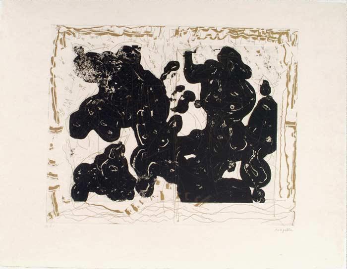 _ARCH_ Aupr�s de mon Lac no 1, 1985 by Jean Paul Riopelle, R.C.A. - Galerie Lamoureux Ritzenhoff