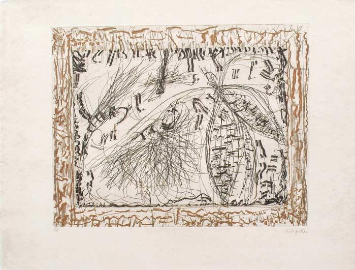 _ARCH_ Aupr�s de mon Lac no 5, 1985 by Jean Paul Riopelle, R.C.A. - Galerie Lamoureux Ritzenhoff