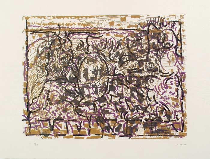 _ARCH_ Qu'� tord son linge, 1990 by Jean Paul Riopelle, R.C.A. - Galerie Lamoureux Ritzenhoff