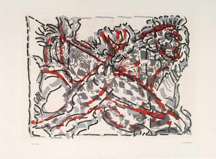 _ARCH_ Quien-toi bien, 1989 by Jean Paul Riopelle, R.C.A. - Galerie Lamoureux Ritzenhoff