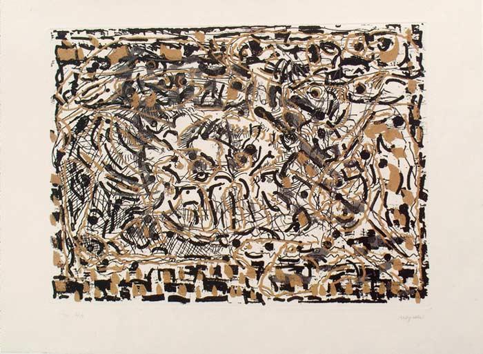 _ARCH_ D'où ce que tu sors, 1990 by Jean Paul Riopelle, R.C.A. - Galerie Lamoureux Ritzenhoff