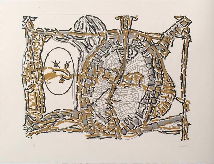 _ARCH_ Il n'y a qu'un seul Dieu dans les Cieux, 1990 by Jean Paul Riopelle, R.C.A. - Galerie Lamoureux Ritzenhoff