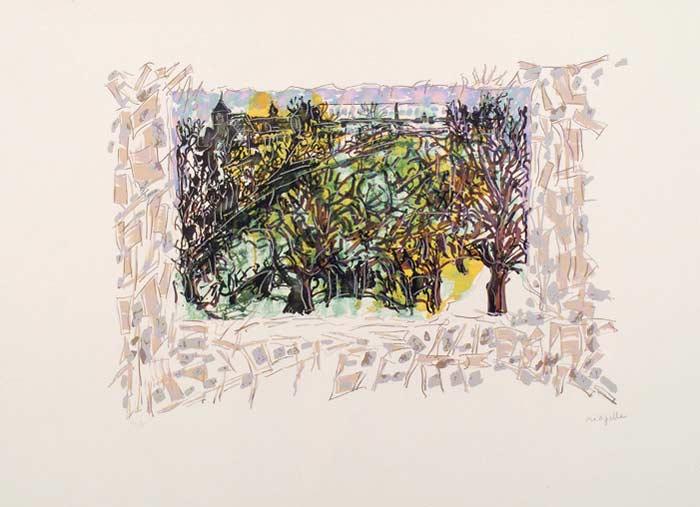 _ARCH_ Les Saisons de Saint-Cyr-en-Arthies no 1, La Vallee du roi, 1985 by Jean Paul Riopelle, R.C.A. - Galerie Lamoureux Ritzenhoff