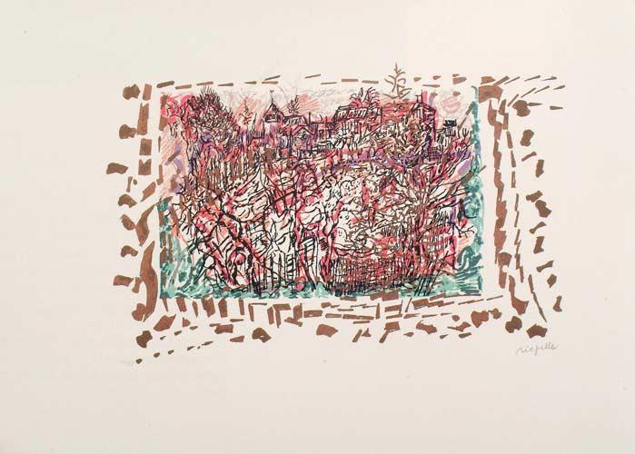 _ARCH_ Les Saisons de Saint-Cyr-en-Arthies no 2, Les Hautes Grouettes, 1985 by Jean Paul Riopelle, R.C.A. - Galerie Lamoureux Ritzenhoff