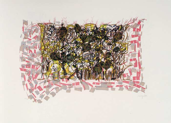 _ARCH_ Les Saisons de Saint-Cyr-en-Arthies no 3, Les Petites Vignes ou Grouettes, 1985 by Jean Paul Riopelle, R.C.A. - Galerie Lamoureux Ritzenhoff