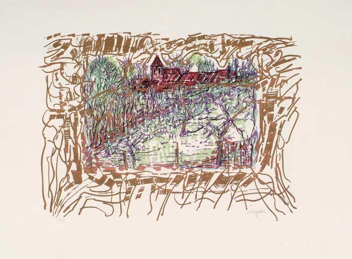 _ARCH_ Les Saisons de Saint-Cyr-en-Arthies no 4, Le Marais, 1985 by Jean Paul Riopelle, R.C.A. - Galerie Lamoureux Ritzenhoff