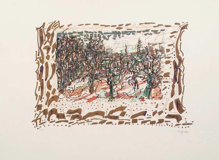 _ARCH_ Les Saisons de Saint-Cyr-en-Arthies no 6, Les Ravenelles, 1985 by Jean Paul Riopelle, R.C.A. - Galerie Lamoureux Ritzenhoff