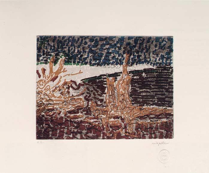 _ARCH_ Anticosti no 3, 1985 by Jean Paul Riopelle, R.C.A. - Galerie Lamoureux Ritzenhoff