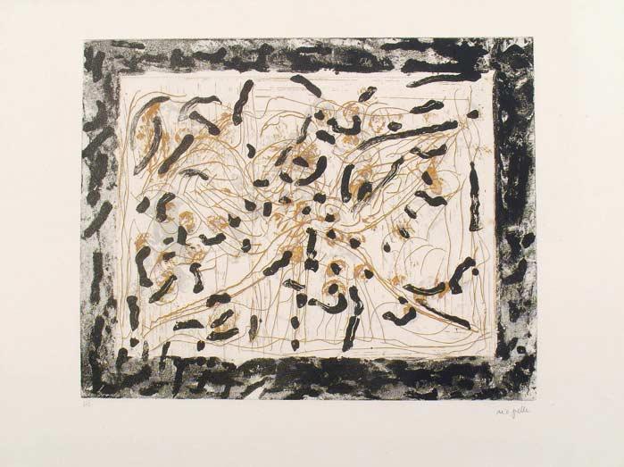 _ARCH_ Les Mouches � marier no 1 , 1985 by Jean Paul Riopelle, R.C.A. - Galerie Lamoureux Ritzenhoff