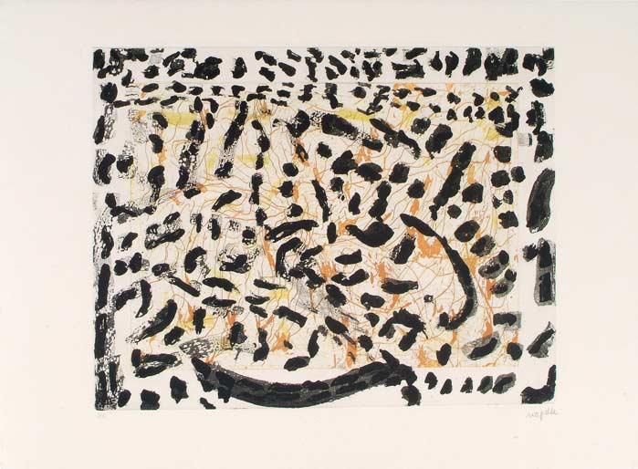 _ARCH_ Les Mouches � marier no 3 , 1985 by Jean Paul Riopelle, R.C.A. - Galerie Lamoureux Ritzenhoff