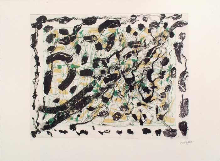 _ARCH_ Les Mouches � marier no 5 , 1985 by Jean Paul Riopelle, R.C.A. - Galerie Lamoureux Ritzenhoff