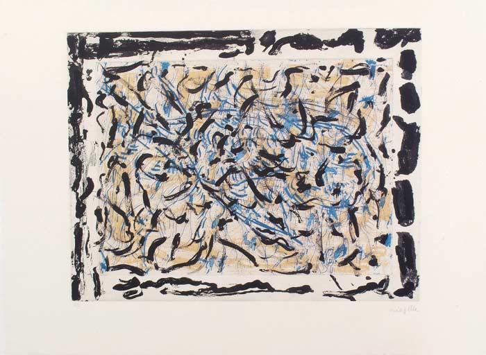 _ARCH_ Les Mouches � marier no 6 , 1985 by Jean Paul Riopelle, R.C.A. - Galerie Lamoureux Ritzenhoff