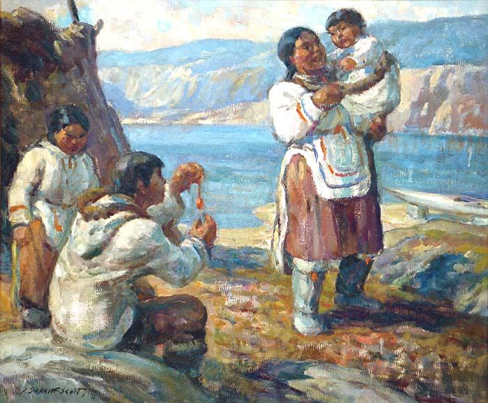 _ARCH_ Eskimo Family by Adam Sherriff Scott - Galerie Lamoureux Ritzenhoff