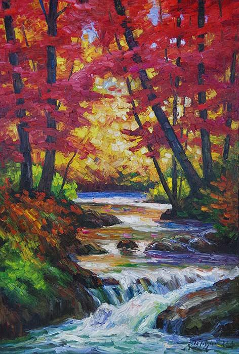 _ARCH_ Autumn's Serene Refuge by Armand Tatossian (A.R.C.A / R.C.A) - Galerie Lamoureux Ritzenhoff