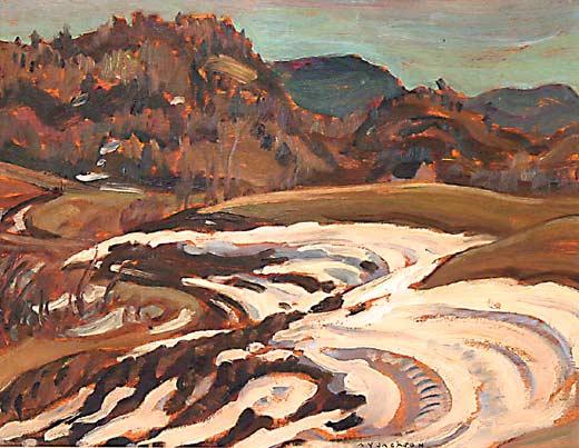 _ARCH_ Near Paugan Falls 2-sided work by A.Y. Jackson, R.C.A. - Galerie Lamoureux Ritzenhoff