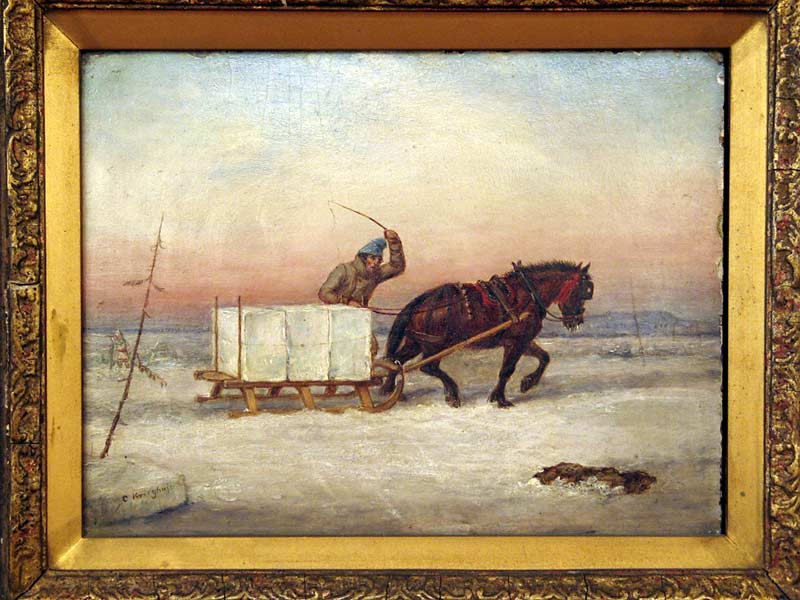 _ARCH_ The Ice Load Circa 1850 by Cornelius D. Krieghoff - Galerie Lamoureux Ritzenhoff