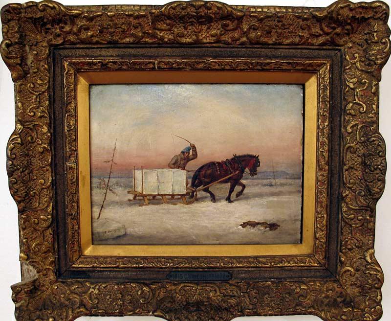 _ARCH_ The Ice Load Circa 1850 by Cornelius D. Krieghoff - Galerie Lamoureux Ritzenhoff