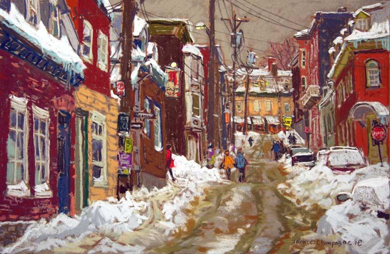 Saint-Sauveur (QC) Canada  City pictures : ... St Sauveur par Horace Champagne, P.S.A Galerie Lamoureux Ritzenhoff