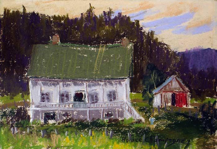 _ARCH_ The Farmer's Wife - Les Éboulements, Québec by Horace Champagne, P.S.A - Galerie Lamoureux Ritzenhoff