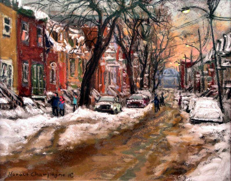 _ARCH_ Laval Street, My Favorite Place (Montreal, Quebec) by Horace Champagne, P.S.A - Galerie Lamoureux Ritzenhoff