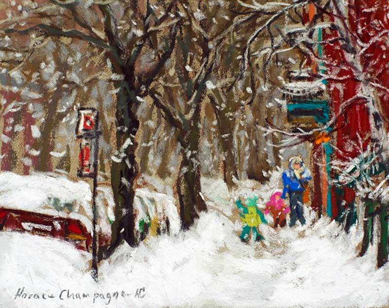 _ARCH_ Storm in Montreal by Horace Champagne, P.S.A - Galerie Lamoureux Ritzenhoff
