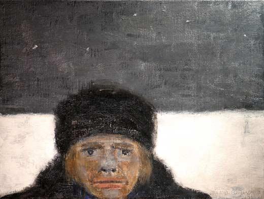 _ARCH_ Tête d'homme by Jean-Paul Lemieux - Galerie Lamoureux Ritzenhoff