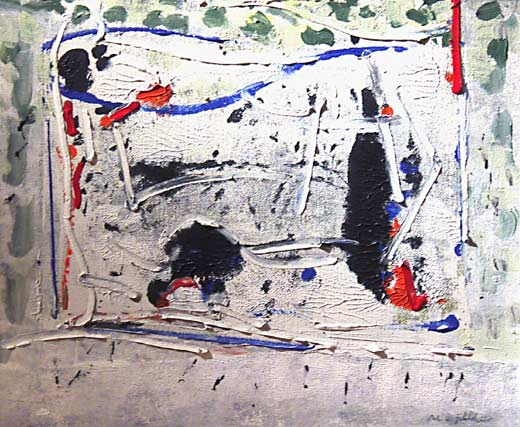 _ARCH_ Abstraction en vert, bleu et rouge by Jean Paul Riopelle, R.C.A. - Galerie Lamoureux Ritzenhoff