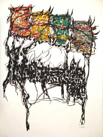 _ARCH_ Apr�s la lettre by Jean Paul Riopelle, R.C.A. - Galerie Lamoureux Ritzenhoff