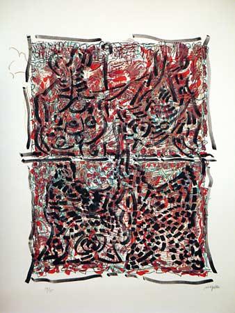 _ARCH_ Visages cach�s by Jean Paul Riopelle, R.C.A. - Galerie Lamoureux Ritzenhoff