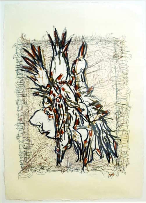 _ARCH_ Cap Tourmente (C), 1983 by Jean Paul Riopelle, R.C.A. - Galerie Lamoureux Ritzenhoff