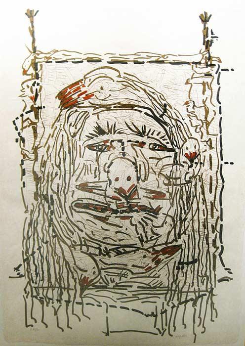 _ARCH_ Cap Tourmente (D), 1983 by Jean Paul Riopelle, R.C.A. - Galerie Lamoureux Ritzenhoff