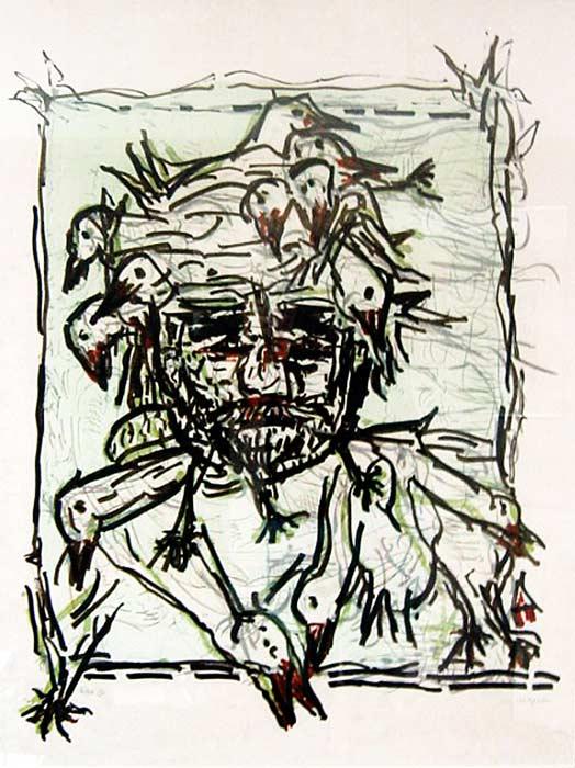 _ARCH_ Cap Tourmente (F), 1983 by Jean Paul Riopelle, R.C.A. - Galerie Lamoureux Ritzenhoff