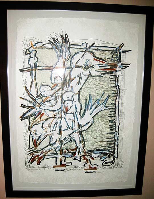 _ARCH_ Cap Tourmente (I), 1983 by Jean Paul Riopelle, R.C.A. - Galerie Lamoureux Ritzenhoff