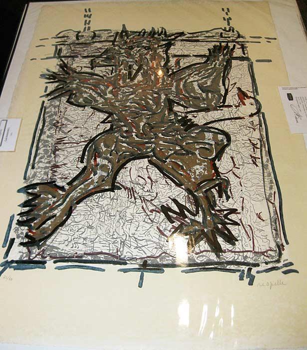 _ARCH_ Cap Tourmente (L), 1983 by Jean Paul Riopelle, R.C.A. - Galerie Lamoureux Ritzenhoff