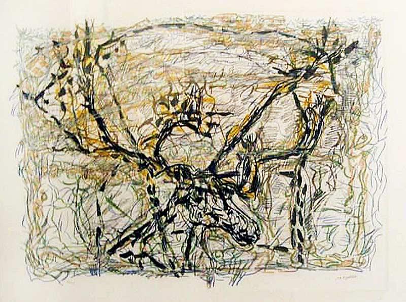 _ARCH_ Caribou, 1976 by Jean Paul Riopelle, R.C.A. - Galerie Lamoureux Ritzenhoff
