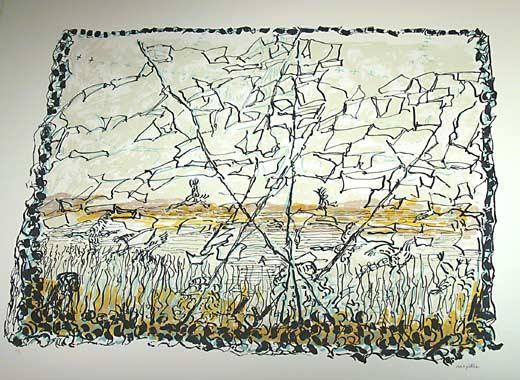 _ARCH_ Chasse aux oies I by Jean Paul Riopelle, R.C.A. - Galerie Lamoureux Ritzenhoff