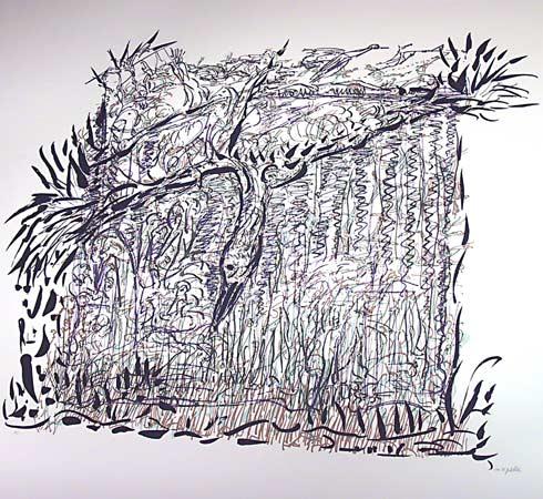 _ARCH_ Chasse aux oies IV by Jean Paul Riopelle, R.C.A. - Galerie Lamoureux Ritzenhoff